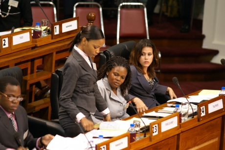 National Youth Parliament 2009 featuring ROYTEC Student Lori Borde at right