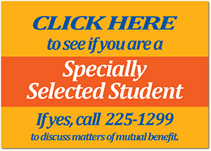Click here to see if you are a Specially Selected Student